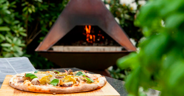 Cooking pizza on the Aduro Prisma Pizza Oven