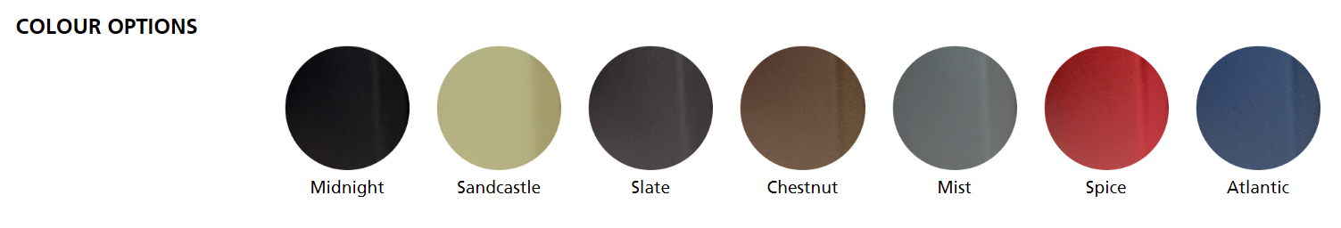 Arada Stove Colour Options