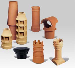 Chimney pots and inserts for chimneys UK