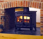 Hunter double sided stoves UK