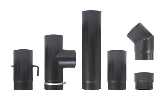 enamelled flue pipe UK - stove flue pipe