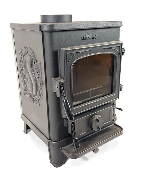 Cleanheat Squirrel cast iron multifuel stove with squirrel sides 1430