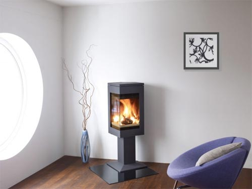 Nordpeis quadro stove nordpeis contemporary stoves uk for Decoration murale derriere poele