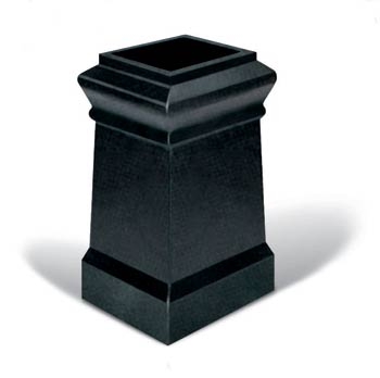 Plain square chimney pot - chimney pots and inserts UK