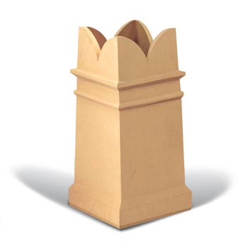 Square Spiked chimney pot
