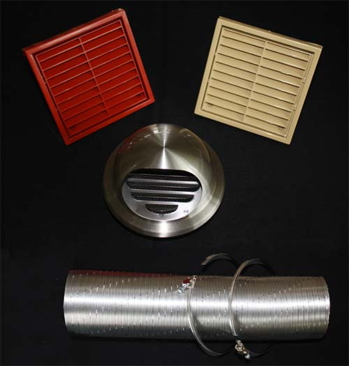 External air ventilation kits for stoves