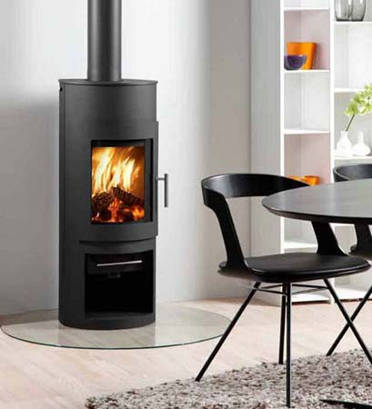 Westfire 15 with clear glass hearth