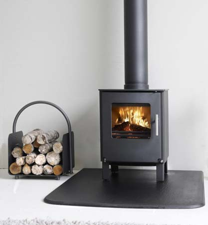 Westfire Series One on a slate hearth
