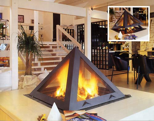 Arkiane Kephren Stove pyramid stove with grating