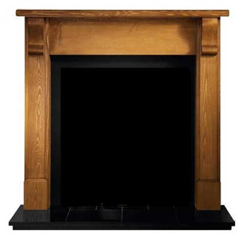 Bedford Pine wooden mantle