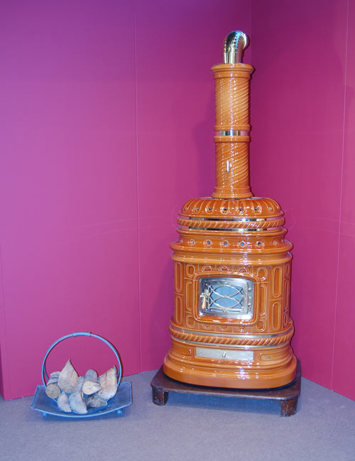 Ceramic stove at Verona