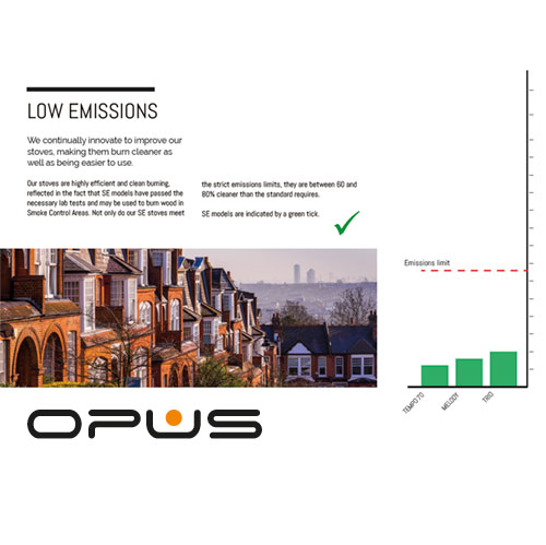 Opus low emission stoves