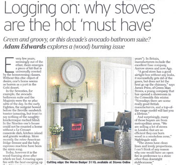 Telegraph stove article