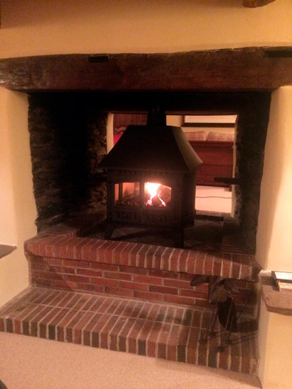 Hunter Herald double sided single depth stove