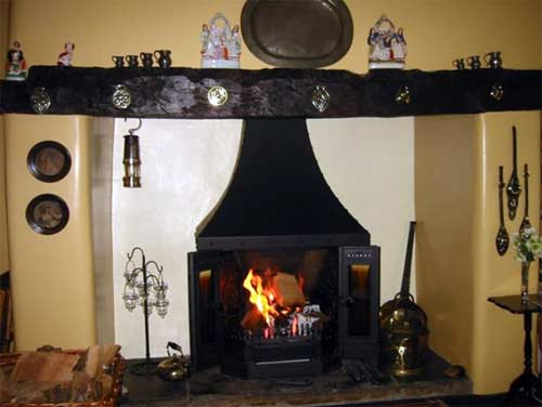 Dovre 2000 MFR stove installed in Northumberland