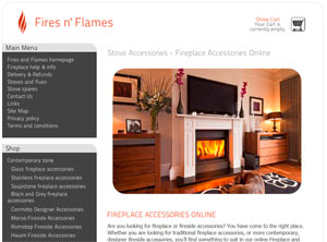 Fireside accessories, fire screens, log basket, fire tools