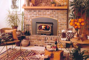 Fire spaces stove and fireplace