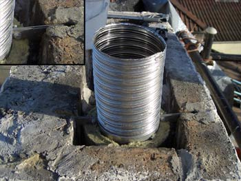 Chimney Liner Uk Fitting Flexible Chimney Liner Chimneys Uk