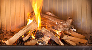 how to light a fire and use a wood burning stove