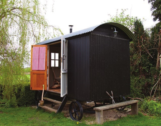 stove in a shepherds hut gipsy wagon