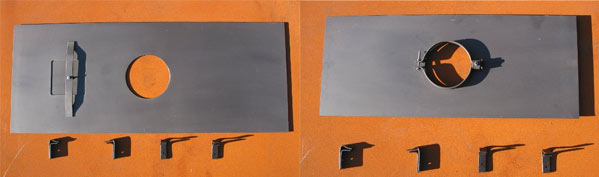 Steel register plate UK - chimney register plates made to order