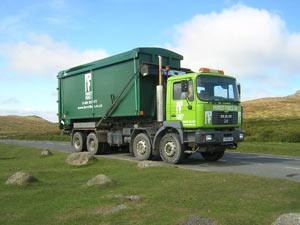 wood pellet delivery truck